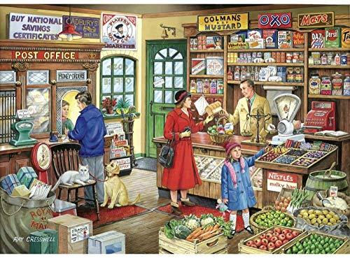 Yzqxiongtu Ouderwetse winkel op de hoek puzzel 1000 stukjes, houten entertainmentpuzzel, 2D puzzels voor volwassenen voor tieners, kind