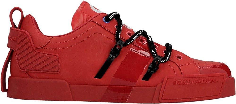 Dolce & gabbana luxury fashion,scarpe sportive,sneakers pEr uomo,in vera pelle,taglia 39 eu CS1783AJ98689689