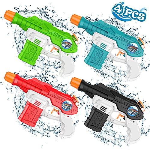 Pistole D'Acqua Giochi Per Bambini Piscina,Giochi Da Esterno Giochi Giardino Per Bambini,Pistola Fucile Giocattolo(4pcs)