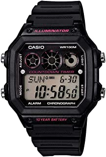 Casio Men's and Grey Dial Resin Band Watch - ae-1300wh-8avdf