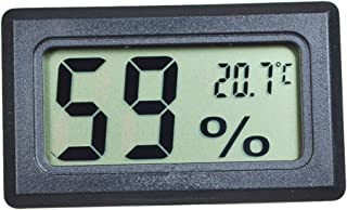 Monitor di Temperatura e umidità Mini Digital LCD Indoor Temperature Humidity Meter Termometro Igrometro (Nero)