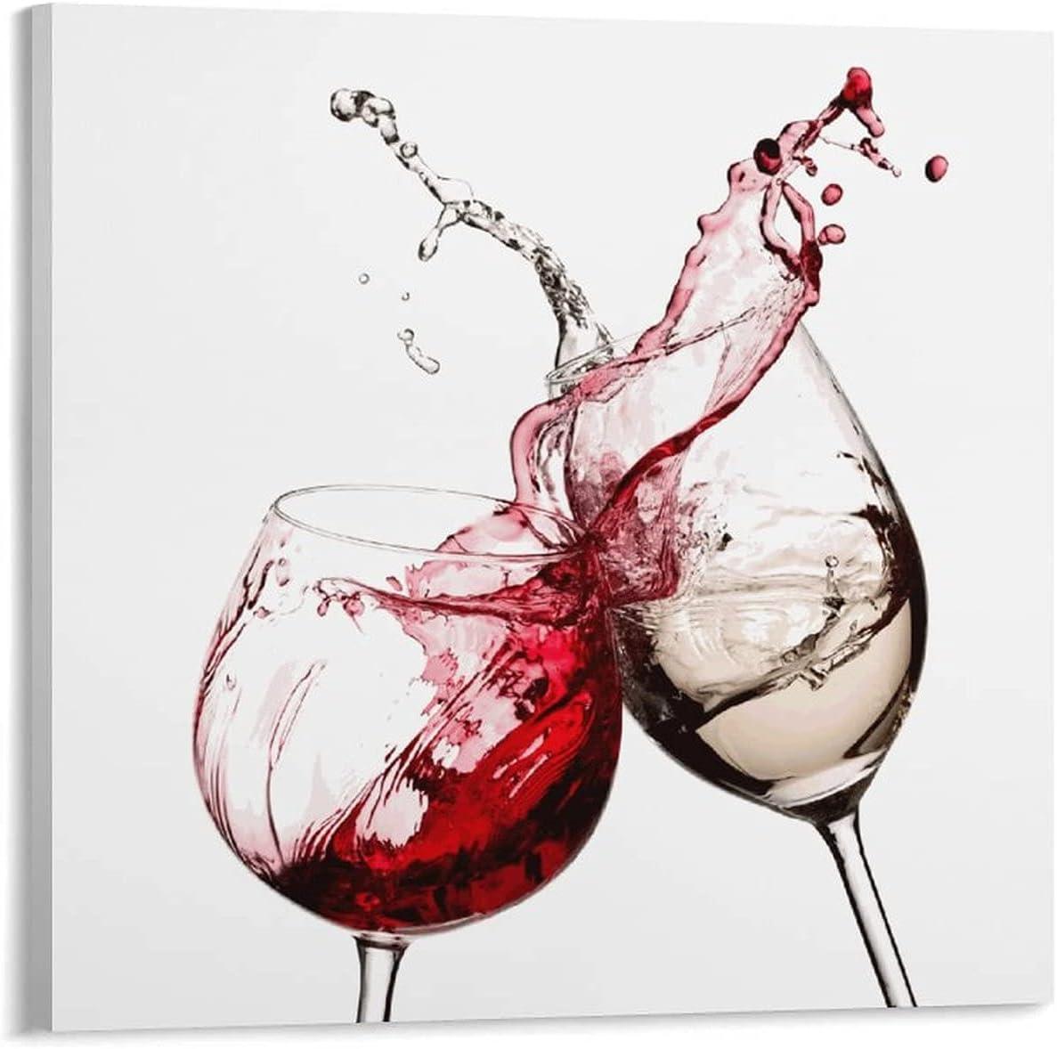 NORMALEBA Max 69% Seattle Mall OFF Red White Wine Glasses Simple Art Wall P Decor Kitchen