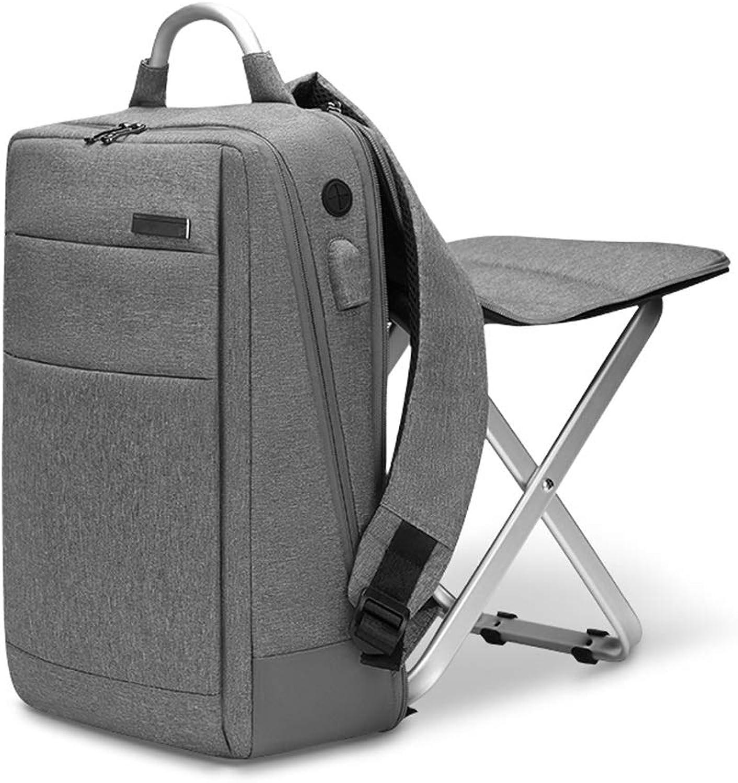 EGCLJ Multifunktionsrucksack-hocker, Reise-doppelter Schulterrucksack Mit Aufgefülltem Tragbarem Klapphocker-Kletternstuhl Für Kampierendes Fischen Wandern