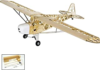 S14 RC Balsa Wood EP & GP 1.8M Piper Cub J3 by DW Hobby Balsa Laser-Cutting Remote Control Aeroplane for Adults; RC Unassembled Flying Model for Fun; (S1401)