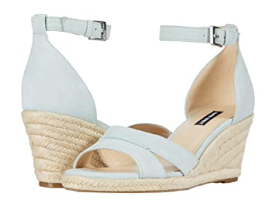 Nine West Jabrina Espadrille Wedge Sandal (Light Grey) Women