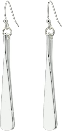 Belle Isle Sculptured Metal Drop Earrings
