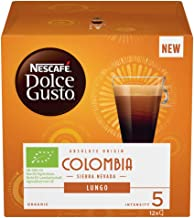 Nescafe Dolce Gusto Colombia Sierra Nevada Lungo Coffee Pods, 12 Capsules, (Pack of 3, Total 36 Capsules, 36 Servings)