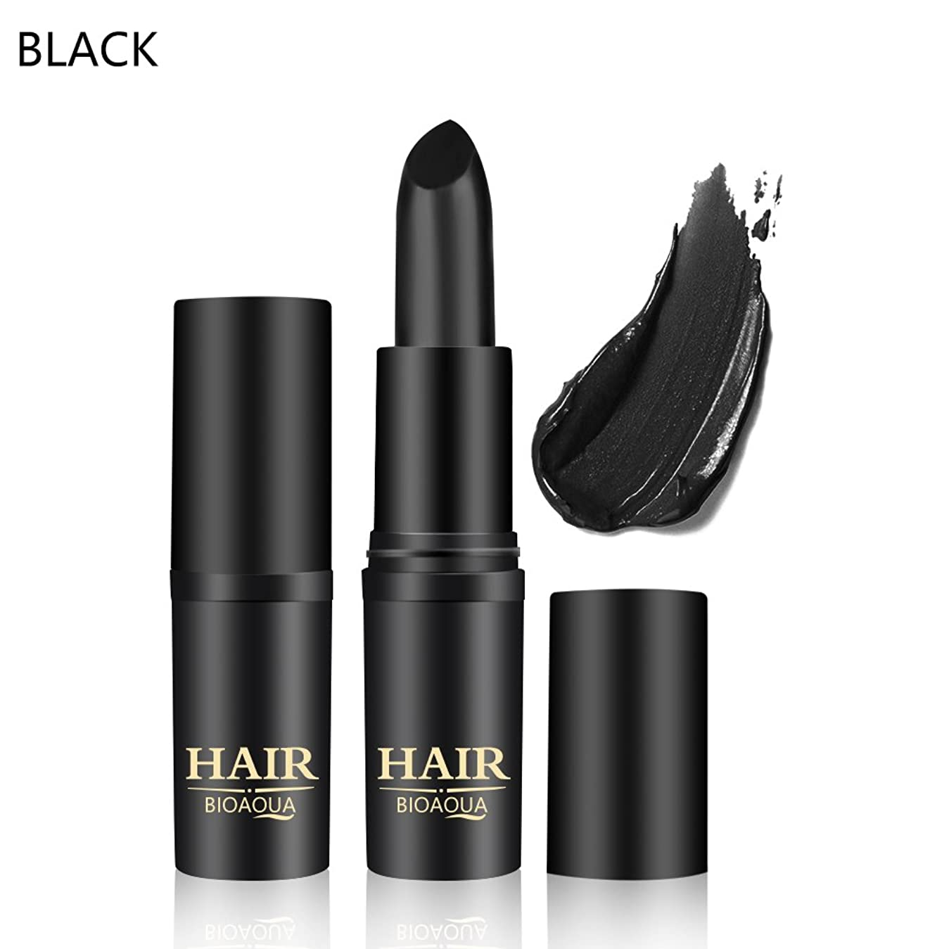 賠償メナジェリーデータベース[BLACK] 1PC Temporary Hair Dye Cream Mild Fast One-off Hair Color Stick Pen Cover White Hair DIY Styling Makeup Beauty Tools