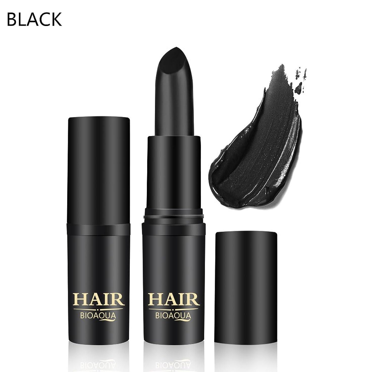 鉛筆換気する休憩[BLACK] 1PC Temporary Hair Dye Cream Mild Fast One-off Hair Color Stick Pen Cover White Hair DIY Styling Makeup Beauty Tools