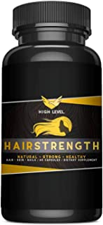 HAIRSTRENGTH - Naturally Longer, Stronger, Healthier Hair - Scientifically Formulated with Biotin, Hyaluronic Acid, Collagen for Hair, Skin, and Nails - 60 Capsules | Made in USA