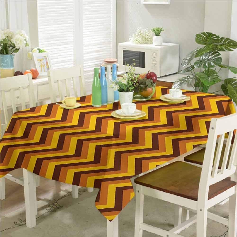 dsdsgog Max 86% OFF Outdoor Picnics Chevron Pattern Brown Weekly update Yellow Li with and