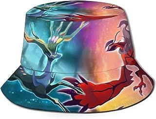 Wide Brim Ntense Symphonic Metal Cover of Battle Xerneas Yveltal Zygarde Cap Bucket Hat Packable Outdoor Camping Fishing Rain Safari Boonie Cap Black