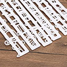 6pcs/set Alphabet Letters Numbers Tappits Frill Edge Fondant Gum Paste Cutters Cake Cookie Baking accessories Mold Stencil...