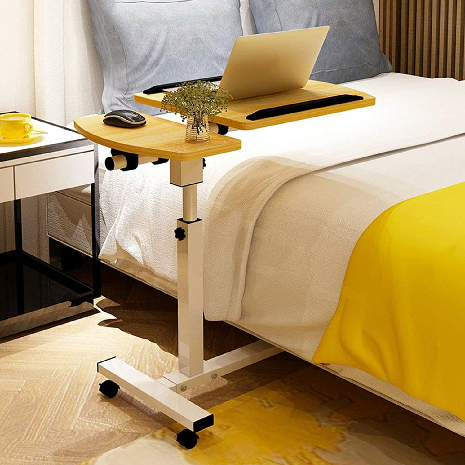 LVZAIXI Computer Desk Bed Learning with Household Lifting Foldable Moving Bedside Table Simple (color   C)