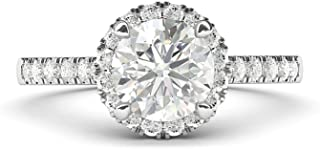 Best round cut halo engagement rings Reviews