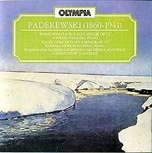 Paderewski: Sonata in E flat minor Op. 21, Piano Concerto in A minor Op. 17