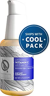 Quicksilver Scientific Liposomal Vitamin C with R-Lipoic Acid - Powerful Antioxidant Formula, Buffered 500ml Liquid + Nano Technology for Superior Absorption (1.7oz / 50ml)