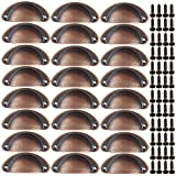 Liwein Pomo Madera,30 Piezas Tiradores de Muebles Perillas de Madera Redondas Natural Perillas del Gabinete con Tornillo para Puertas Armarios de Cocina Tirador Cajones 28mm
