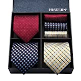 ヒスデン 洗える ネクタイ 3本セット フォーマル ネクタイ ハンカチ メンズ 結婚式 赤 ネクタイ セット ビジネス ネクタイ ブランド プレゼント 40代 ネクタイ 洗える