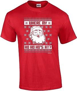 Funny Santa Ho Ho Ho Ugly Christmas Sweater Adult T-Shirt