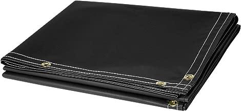 Steiner 336-6X6 13-Ounce Flame Retardant Opaque Vinyl Laminated Polyester Welding Curtain, Black, 6' x 6'
