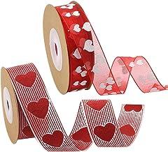 Rode Liefde Hart Gedrukte Stof Linten Crafting Art Mode Geweven Lint Valentijnsdag Moederdag Handgemaakte Gift Wrapping Ha...