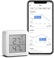 SwitchBot 温湿度计 数码 智能家电 高精度 瑞士制造传感器 智能手机温度湿度管理 防中暑 带报警 图表记录 Alex、Google home、HomePod、IFTTT (需要适配器)