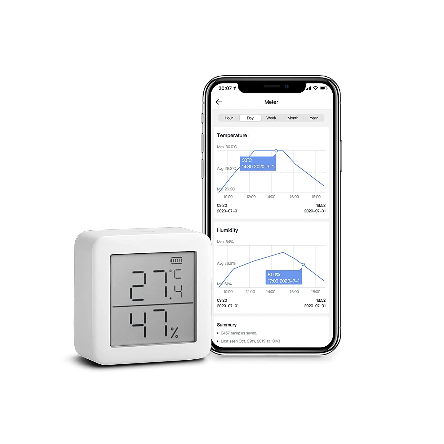 SwitchBot Smart Wi-Fi Bluetooth Thermometer 11.97 Coupon