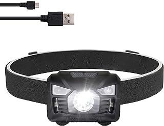 three trees Headlamp Flashlight,USB Rechargeable LED Head...