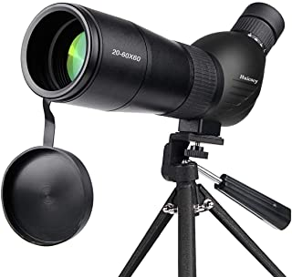 Spotting Scope,Huicocy 20-60x60mm Zoom 39-19m/1000m Fully Multi Coated Optical Lens..