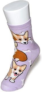 ペットラバーズ コーギー レディース ソックス 靴下 犬柄 Corgi Socks ペットとアニマルソックス SD-1002