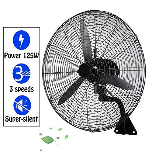 HLILY Ventilador De Pared Industrial,3 Ventiladores Oscilante De Alta Velocidad La Pared,Ventiladores Eléctricos De Refrigeración De Servicio Pesado,180W Gimnasio/almacén (55/68/78 Cm)