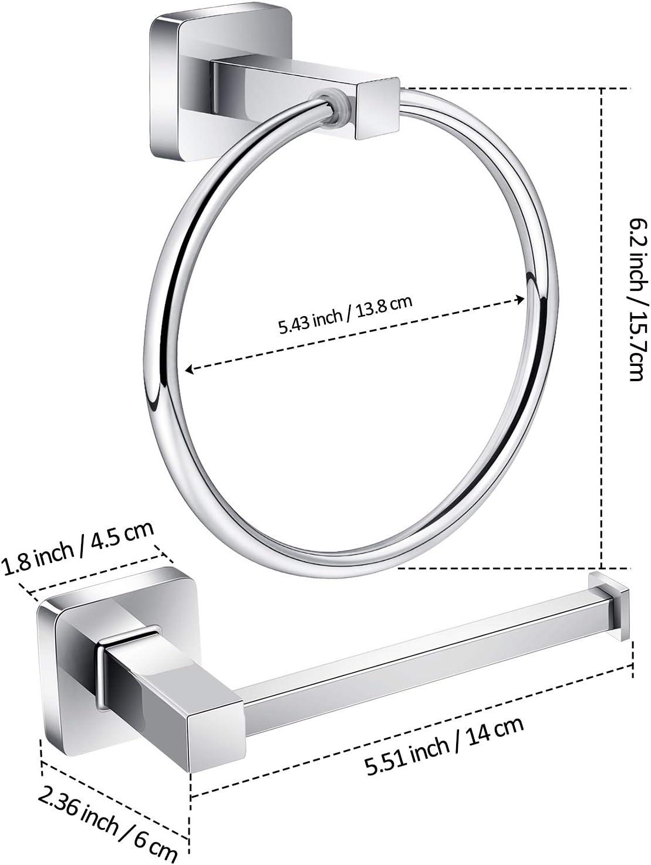 Nanssigy Matte Black Toilet Paper Holder Bathroom Hardware Set Towel Ring Towel Hook Set