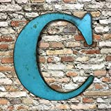 Metal Letter C - 8', 12', 16', 22', 30' or 35' inch tall - Handmade metal wall art - Choose your Patina Color,...
