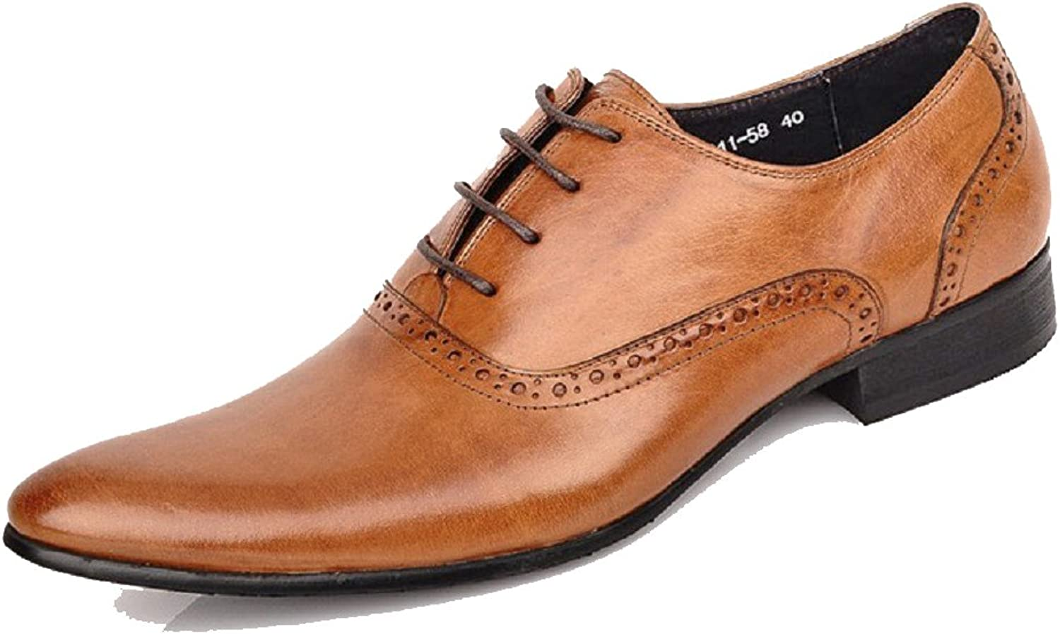 Cover Plus 3 color New Genuine Leather Mens Business Formal Dress Wedding Wingtip Lace Up Oxford shoes