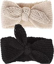 Turban Headband Baby Girl - Warm Rabbit Knot Hair Band, Knit Head Wrap for Newborn, Toddler and Children