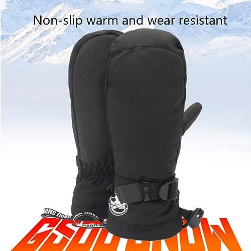 NCBH Gants de Snowboard de Ski étanches pour Hommes Gants de Snowboard en Hiver,S