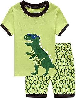 Milkiwai Unisex Kids 2-PC Set Estivi Stile Giraffe Top e abbinamenti Motivo Pantaloncini in Cotone Babyboys Casual Playwear Daily Outfit