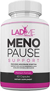 Menopause Relief Hormone Balance for Women Supplement for Hot Flashes & Anxiety Estrogen Pills for Women Licorice Root, Black Cohosh, Dong Quai 60 Capsules by LadyMe