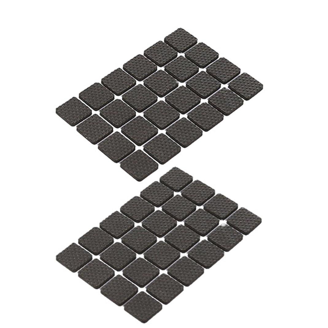 味使い込む交通VORCOOL フェルトパッド 家具保護 キズ防止 滑り止め スクエア テーブル 椅子の足パッド フロアプロテクター 雑音減少 2.2x2.2cm(黒)48枚