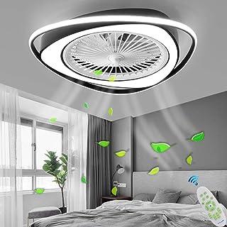 LED Ventilateur Plafonnier Moderne Plafond Fan Avec Télécommande Silencieux Ventilateur Lumière Chambre Lampe Salon Matern...