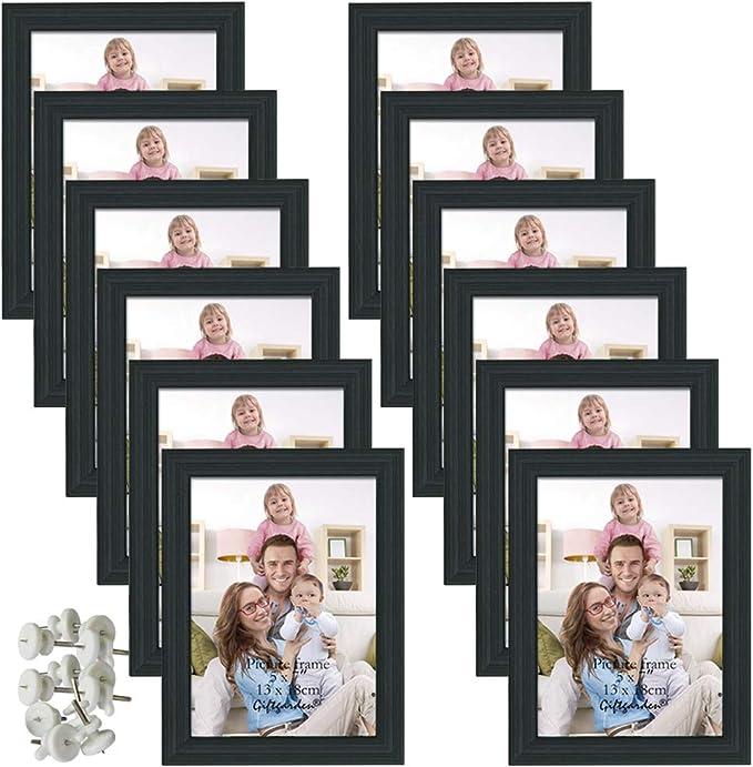 10429 opinioni per Giftgarden Cornici Foto 13 x 18 da Parete 12 Pezzi Set Cornici da Tavolo, Nero