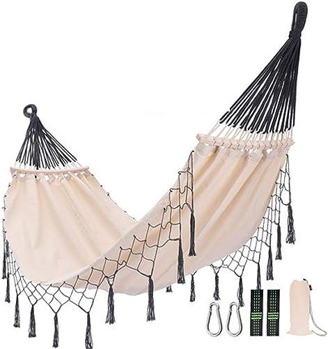 LSXLSD Camping Hammock-portable-de plein air, Randonnée pédestre, Sac à Dos, Voyager, Plage, Jardin - 200cm (6.6foot) x100cm (3.3foot) - Tasseau gris
