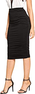 Best black draped pencil skirt Reviews