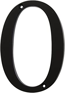 Distinctions by Hillman 843140 4-Inch Flush-Mount Black House Number 0