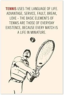 Andre Agassi Tennis Language Of Life Quote Poster