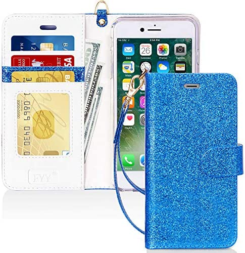 FYY Luxury PU Leather Wallet Case for iPhone 6 Plus 6s Plus Kickstand Feature Flip Phone Case product image