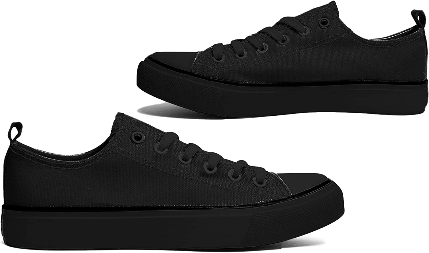 10XSHOES Women's Low Top Classic Canvas Fashion Sneaker Basketball Tennis Athletic shoes