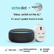 Echo Dot (Black) Combo with Wipro 16A Smart Plug