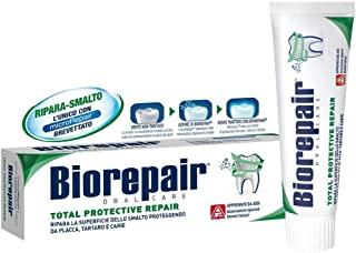 "Biorepair: ""Total Protective Repair"" Toothpaste with microRepair, New Formula - 2.5 Fluid Ounce (75ml) Tube [ Italian Impo..."